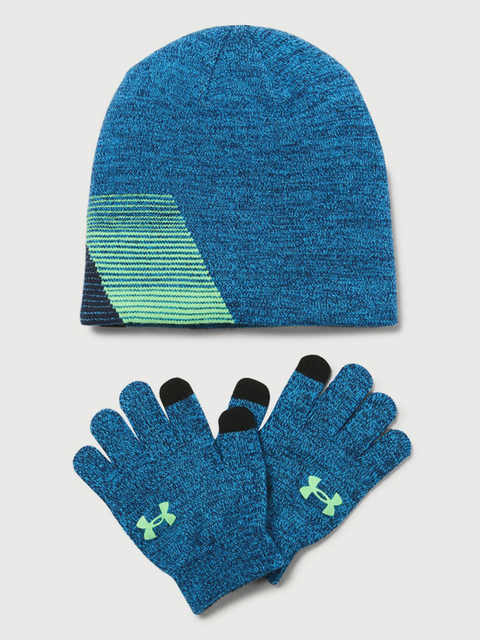Čiapky a rukavice Under Armour Boy\'s Beanie/Glove Combo