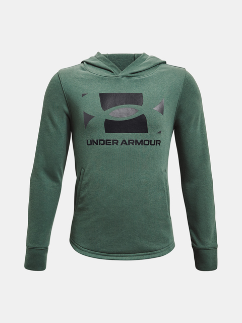 Mikina Under Armour UA RIVAL TERRY HOODIE-GRN