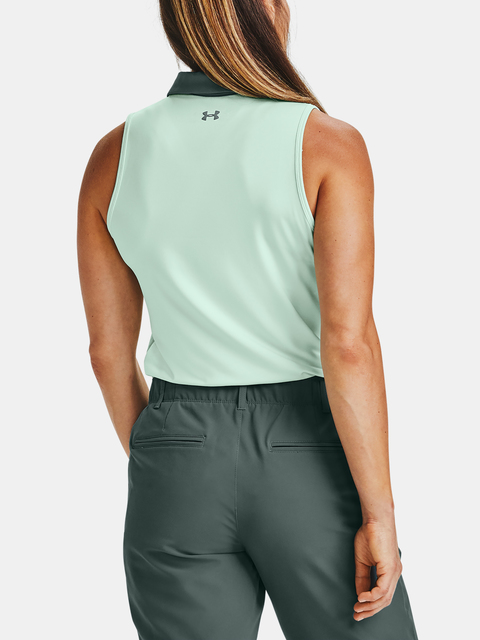 Tielko Under Armour Zinger Sleeveless Polo-BLU