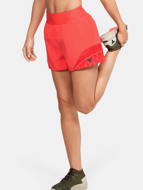 Kraťasy Under Armour  Project Rock Train Shorts-RED
