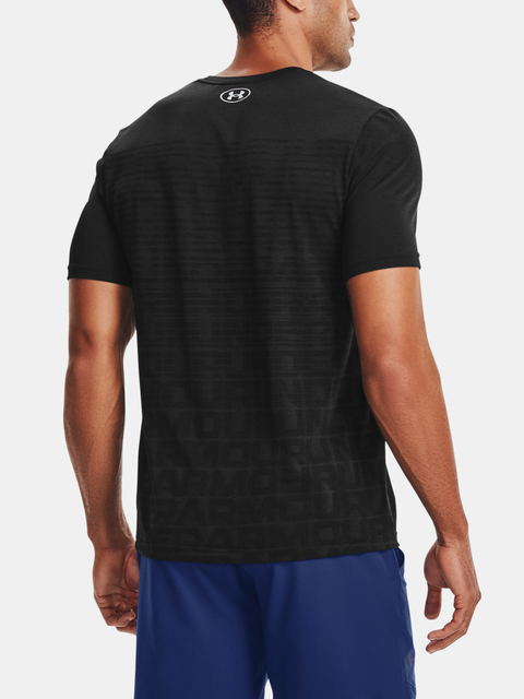 Tričko Under Armour  Seamless Wordmark SS-BLK