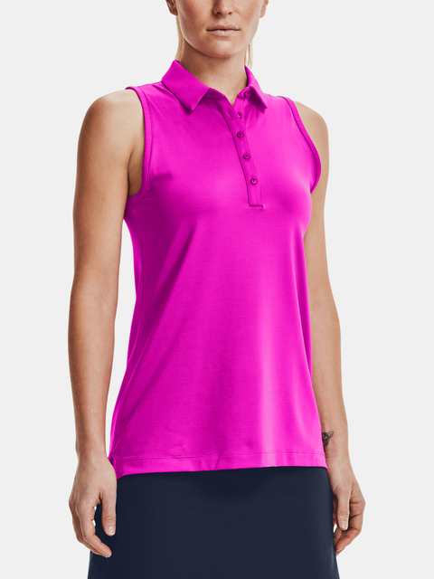 Tielko Under Armour UA Zinger Slvls Novelty Polo-PNK