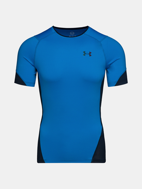 Tričko Under Armour HG Rush 2.0 Comp SS-BLU