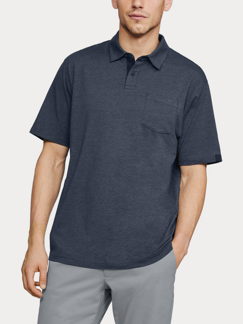 Tričko Under Armour CC Scramble Polo-NVY