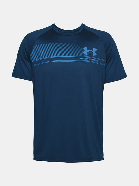 Tričko Under Armour LOGO WORDMARK TECH SS