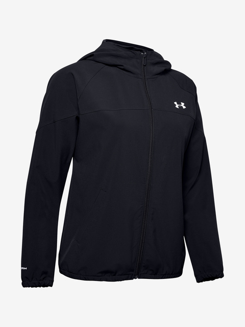 Bunda Under Armour Woven Hooded Jacket-BLK