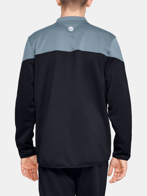 Mikina Under Armour Athlete Recovery Knit Warm Up Top-GRY