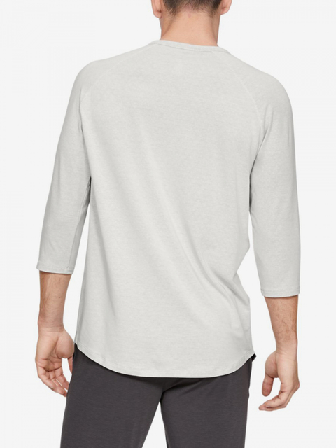 Tričko Under Armour Recovery Sleepwear Henley-Wht