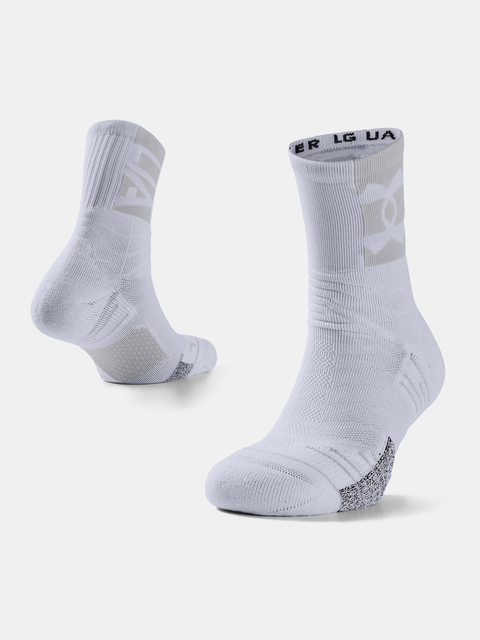 Ponožky Under Armour Playmaker Crew-WHT