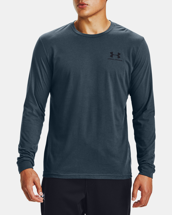 Tričko Under Armour SPORTSTYLE LEFT CHEST LS-BLU