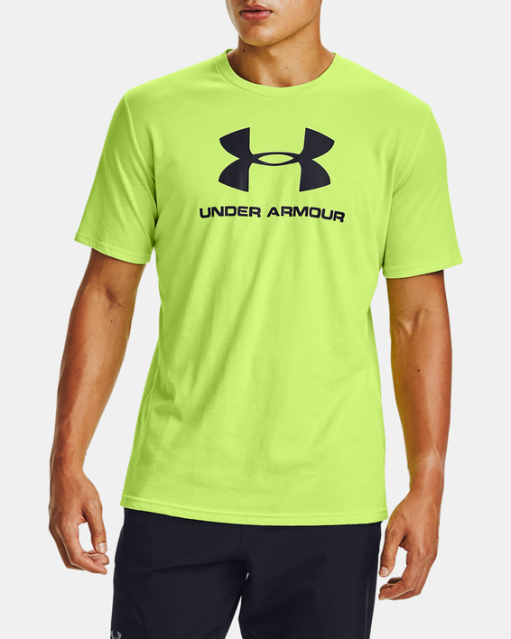 Tričko Under Armour SPORTSTYLE LOGO SS-GRN