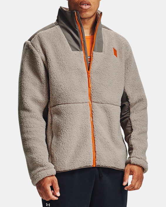 Bunda Under Armour LEGACY SHERPA SWACKET-BRN