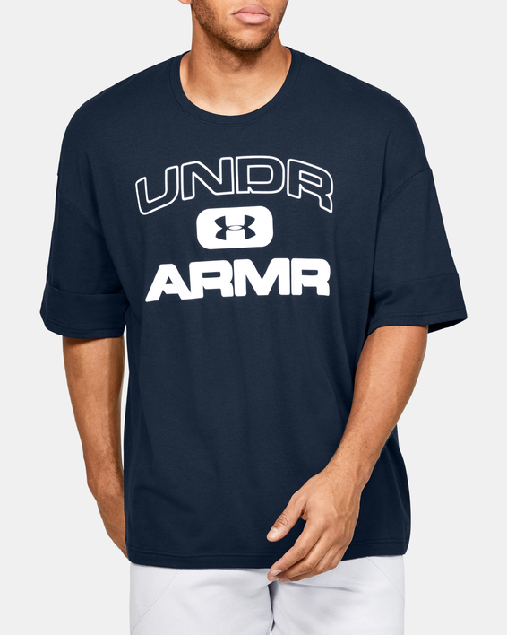 Tričko Under Armour  MOMENTS SS TEE-NVY