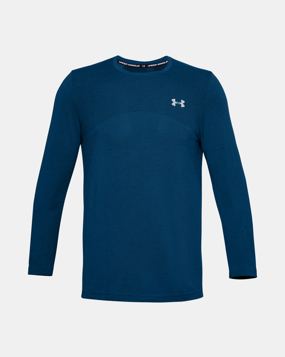 Tričko Under Armour UA Seamless LS-BLU