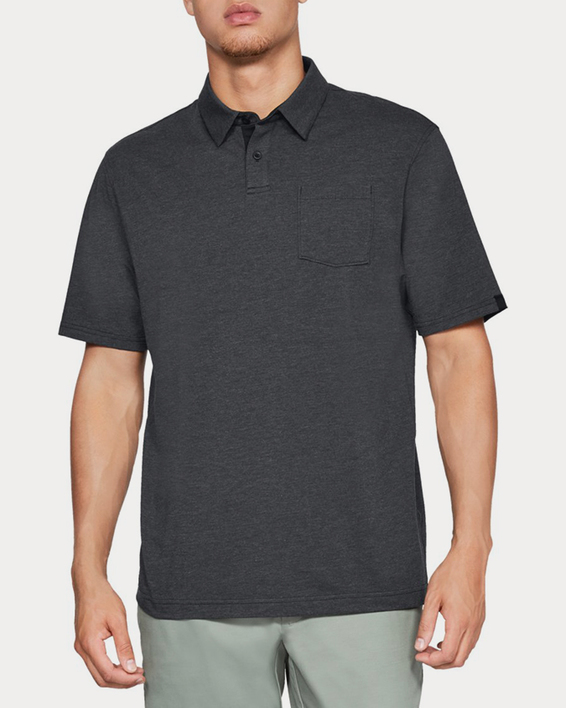 Tričko Under Armour CC Scramble Polo-BLK