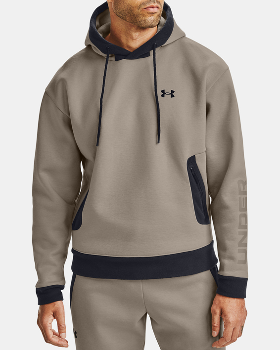 Mikina Under Armour Recover Fleece Hoodie-BRN