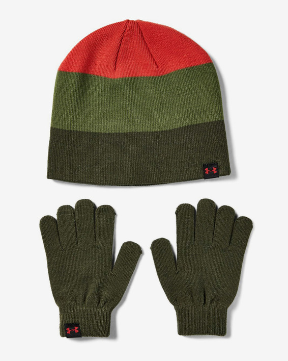 Čapica a rukavice Under Armour Boys Beanie Glove Combo-Grn
