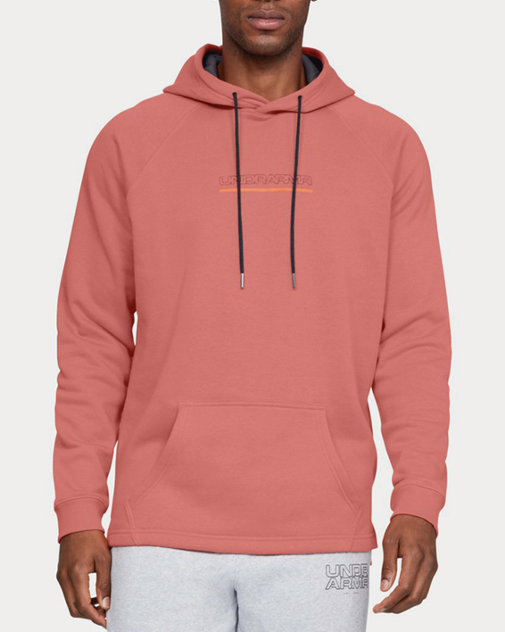 Mikina Under Armour Baseline FLC Graphic Hood-ORG