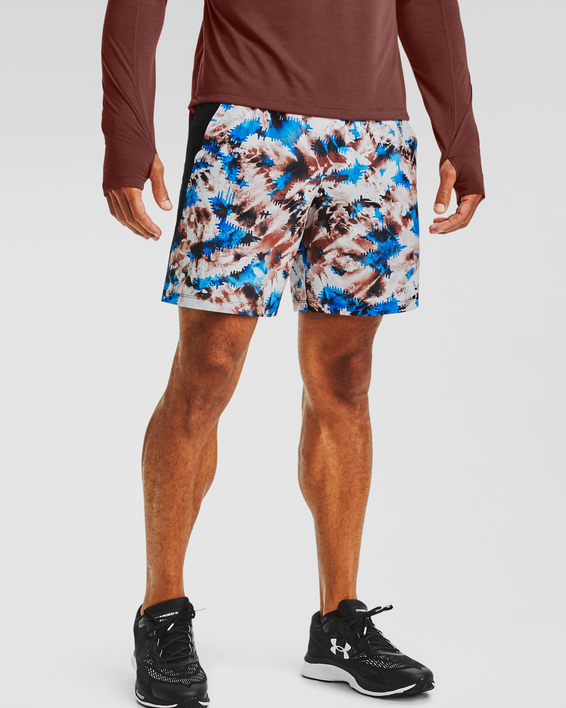 Kraťasy Under Armour UA LAUNCH SW 7'' PRINTED SHORT-RED