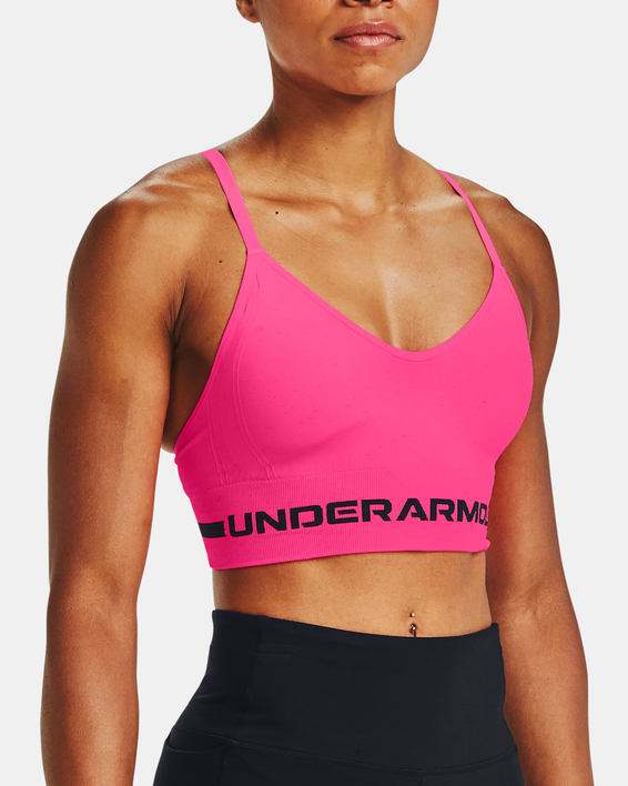 Podprsenka Under Armour UA Seamless Low Long Htr Bra-PNK