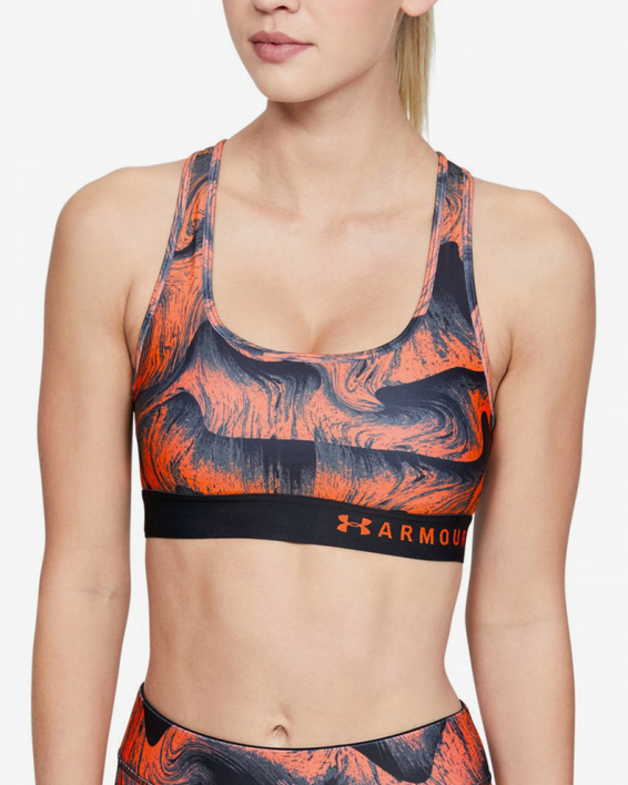 Kompresná podprsenka Under Armour Mid Crossback Printed Bra