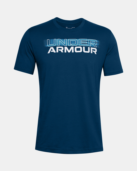 Tričko Under Armour UA BLURRY LOGO WORDMARK SS-BLU