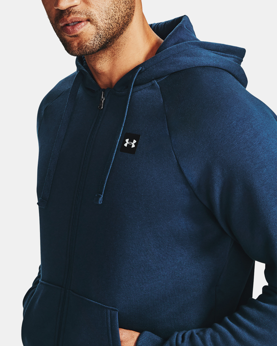 Mikina Under Armour UA Rival Fleece FZ Hoodie-NVY