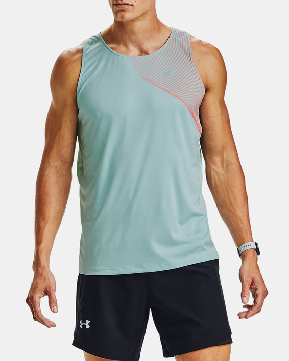 Tielko Under Armour M  Qlifier ISO-CHILL Singlet-BLU