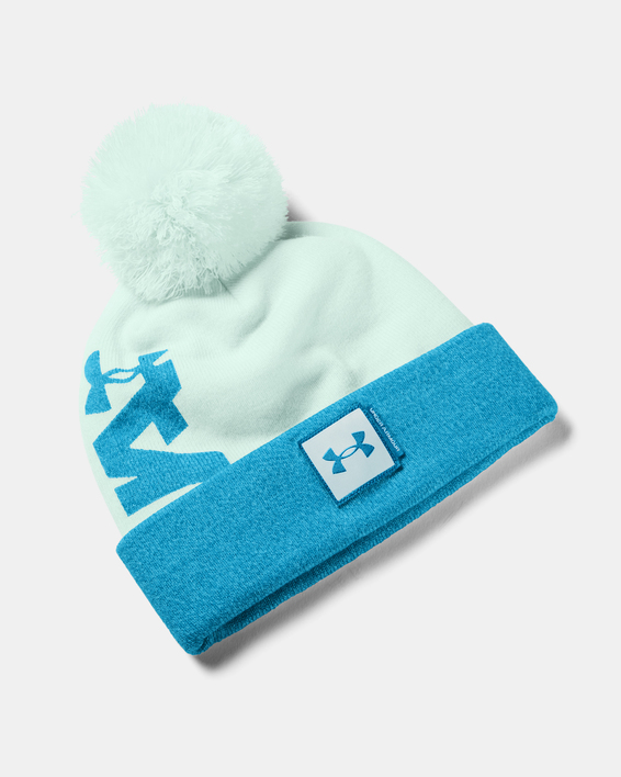 Čapica Under Armour UA Big Pom Logo Beanie-BLU