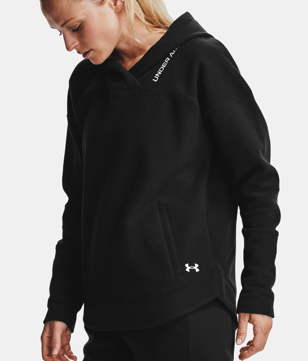 Mikina Under Armour Recover Fleece Hoodie-BLK (7)
