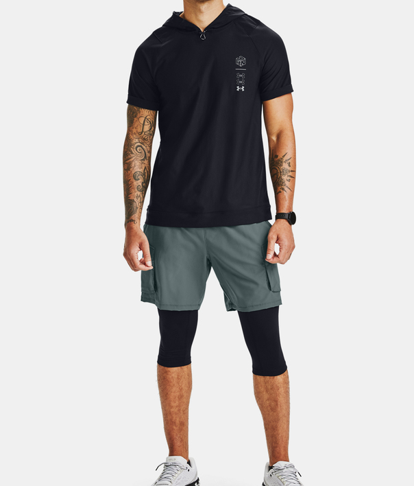 Mikina Under Armour UA Run Anywhere Hooded SS-BLK (7)