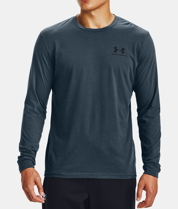 Tričko Under Armour SPORTSTYLE LEFT CHEST LS-BLU (1)