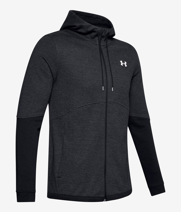 Mikina Under Armour DOUBLE KNIT FZ HOODIE-BLK (4)