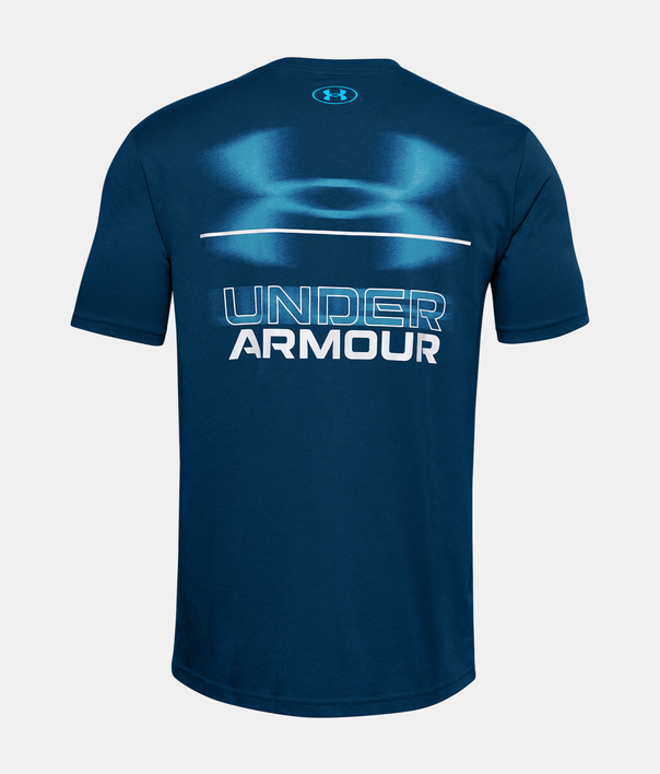 Tričko Under Armour UA BLURRY LOGO WORDMARK SS-BLU (2)