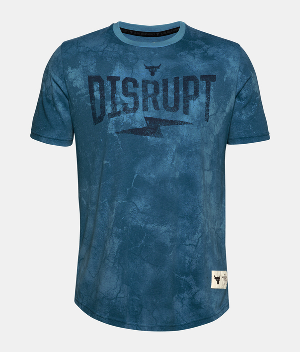 Tričko Under Armour PROJECT ROCK DISRUPT SS-BLU (1)