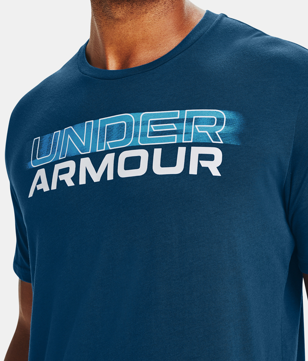 Tričko Under Armour UA BLURRY LOGO WORDMARK SS-BLU (4)