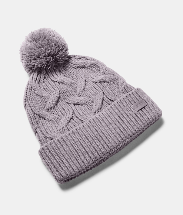 Čepice Under Armour Around Town Pom Beanie-PPL (1)
