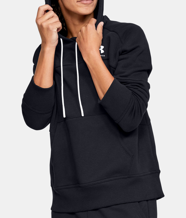 MIkina Under Armour Rival Fleece Color block Hoodie-BLK (1)