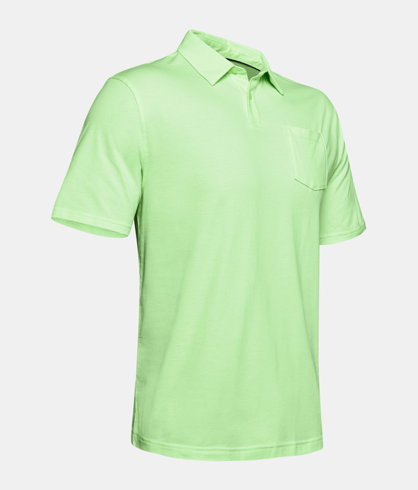 Tričko Under Armour Charged Cotton Scramble Polo-GRN (3)