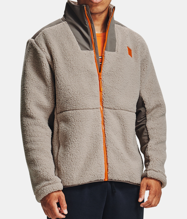 Bunda Under Armour LEGACY SHERPA SWACKET-BRN (1)