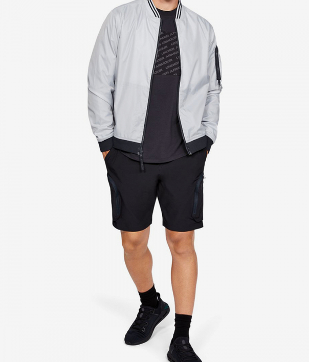 Bunda Under Armour Unstoppable Woven Bomber-Gry (5)