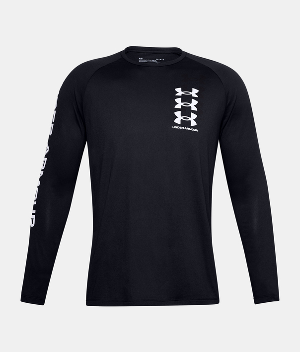 Tričko Under Armour TECH TRIPLE LOGO LS-BLK (3)