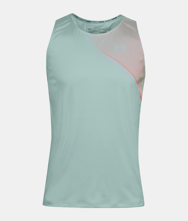 Tielko Under Armour M  Qlifier ISO-CHILL Singlet-BLU (3)