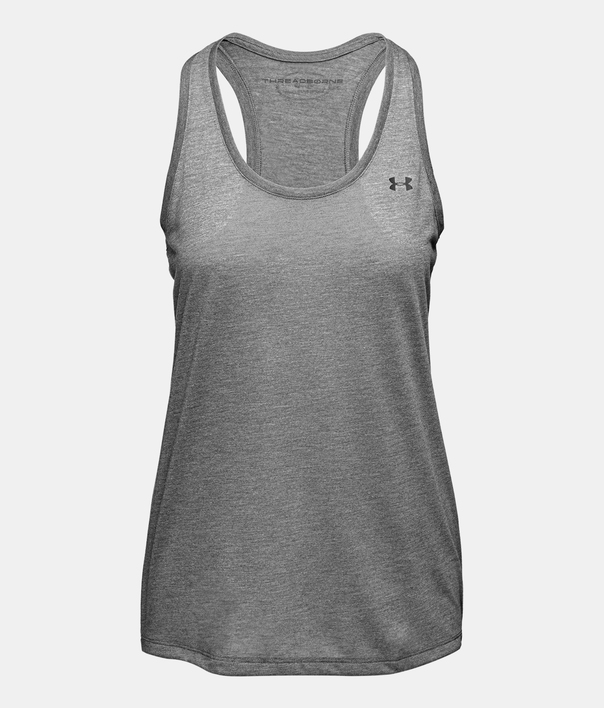 Tielko Under Armour Threadborne Train Tank-GRY (1)