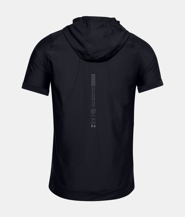 Mikina Under Armour UA Run Anywhere Hooded SS-BLK (4)