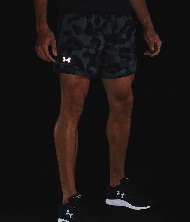Kraťasy Under Armour UA Launch SW 5'' Camo Short-BLK (6)