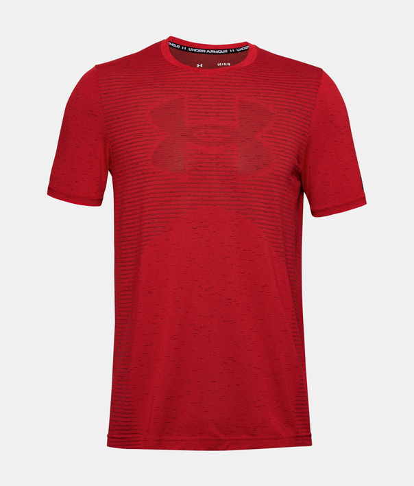 Tričko Under Armour Seamless Logo SS-RED (3)