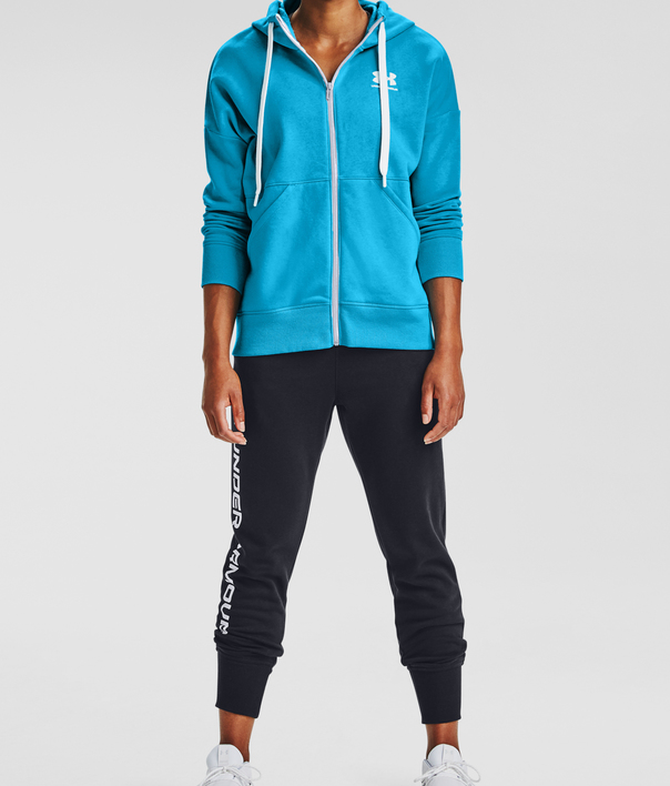 Mikina Under Armour Rival Fleece FZ Hoodie-BLU (3)