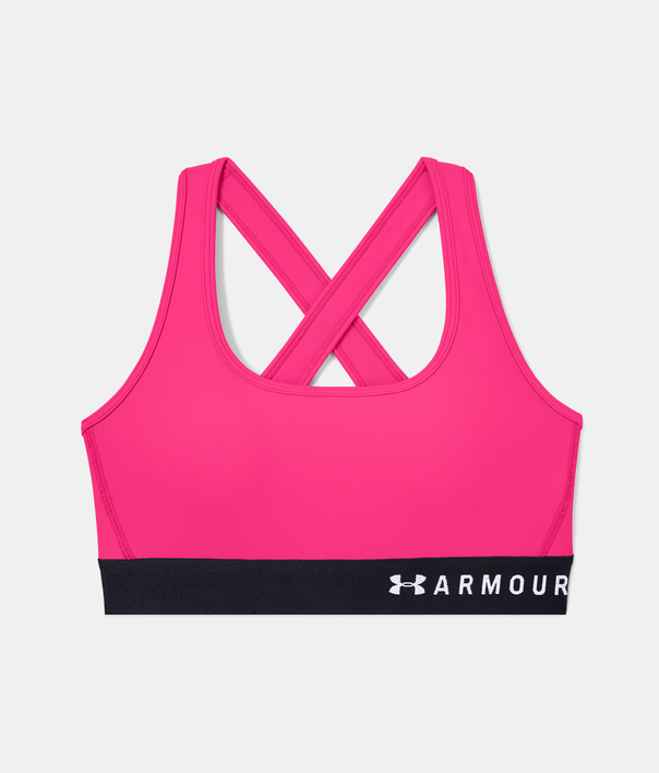 Podprsenka Under Armour Armour Mid Crossback Bra-PNK (3)