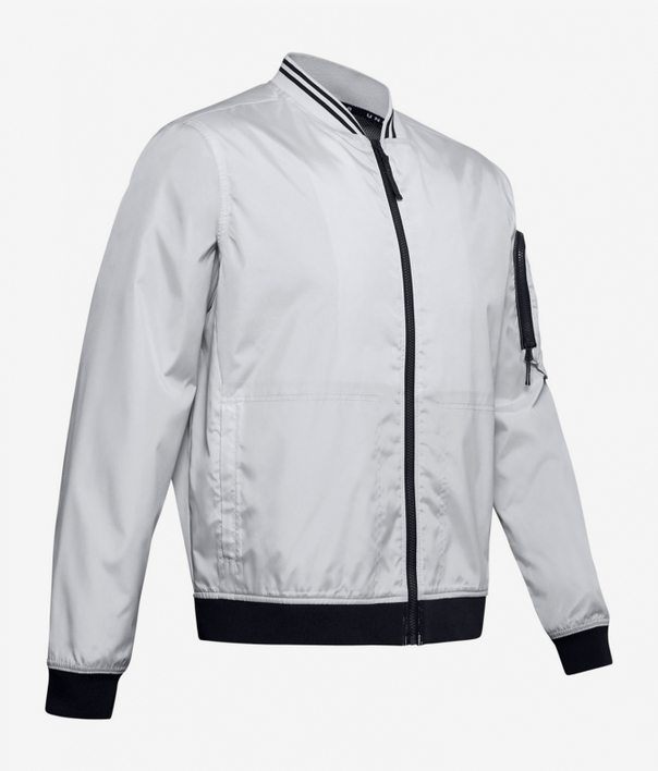 Bunda Under Armour Unstoppable Woven Bomber-Gry (3)
